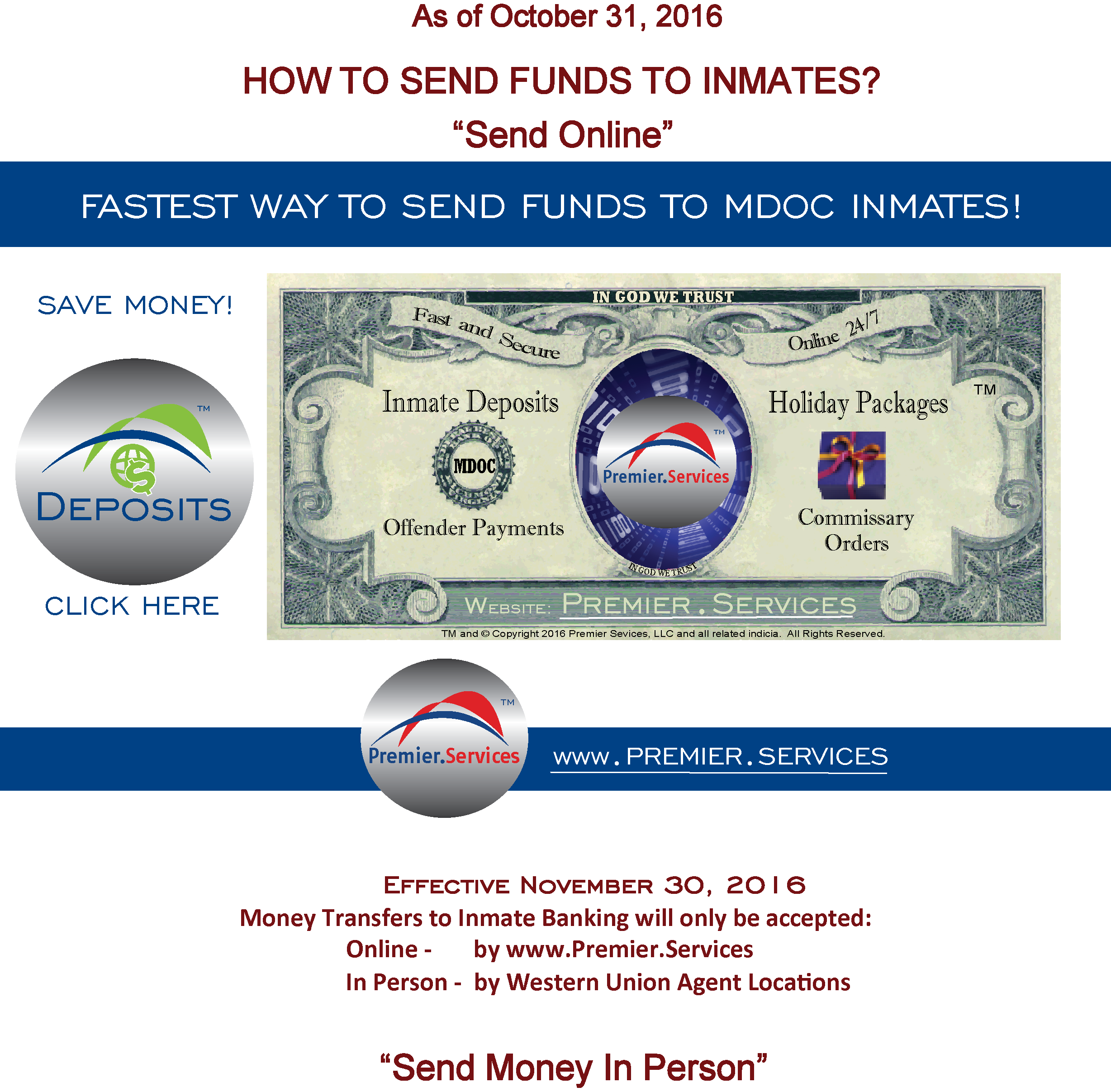 How to send funds to inmates ccuart Image collections